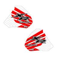 XR250 XR400 96-04 Wing shroud graphics white bg red-black highlight