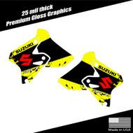 Suzuki DRZ400 splatter shroud graphics