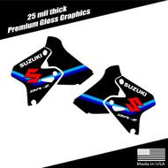Suzuki DRZ400 Shroud Graphics Stripe Black