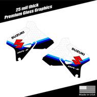 Suzuki DRZ400 Shroud Graphics Stripe White