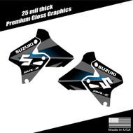Suzuki DRZ400 Shroud Graphics Fade Black/Gray/Cyan