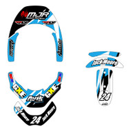 MJR Series Leatt Brace Decal Kit