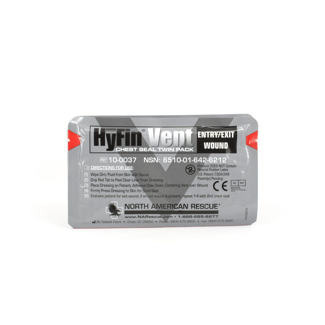 North American Rescue Hyfin Chest Seal Twin Pack