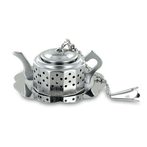 Teapot with Tray Tea Infuser Strainer