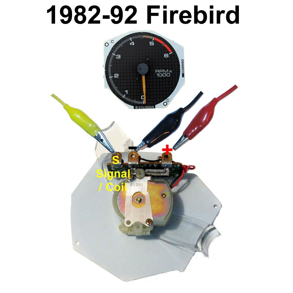 1982-92 Firebird tachometer test lead locations