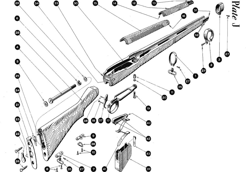 Springfield 1903 Rifle Parts Diagram Springfield 1903
