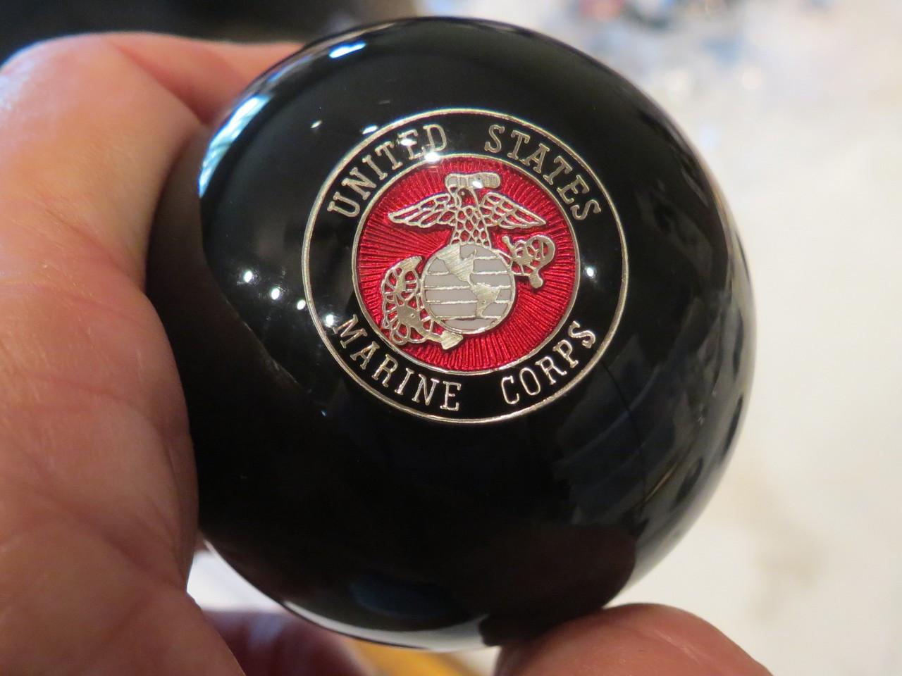 Marine Shift Knobs : United states marine corps flags shift knob