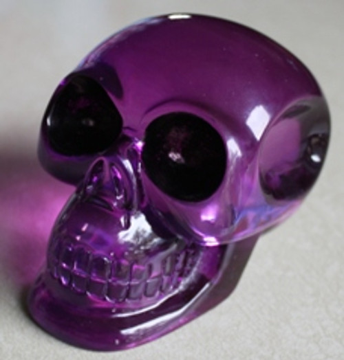 Oversized Clear Purple Skull Shift Knob