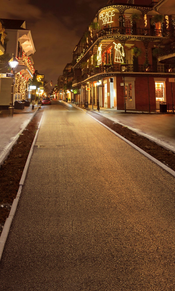 Christmas on Bourbon Street Backdrop