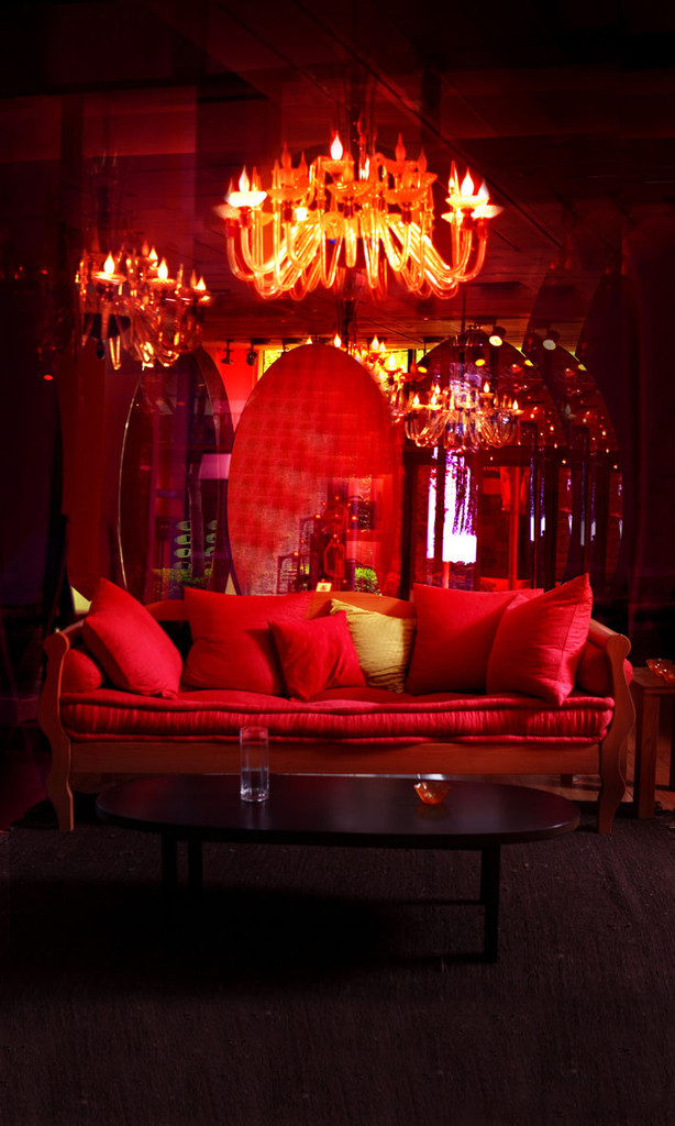 Red Room Backdrop