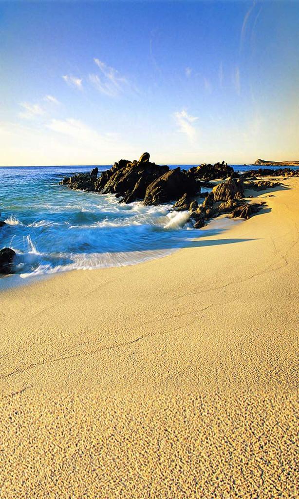 Rocky Waves Backdrop