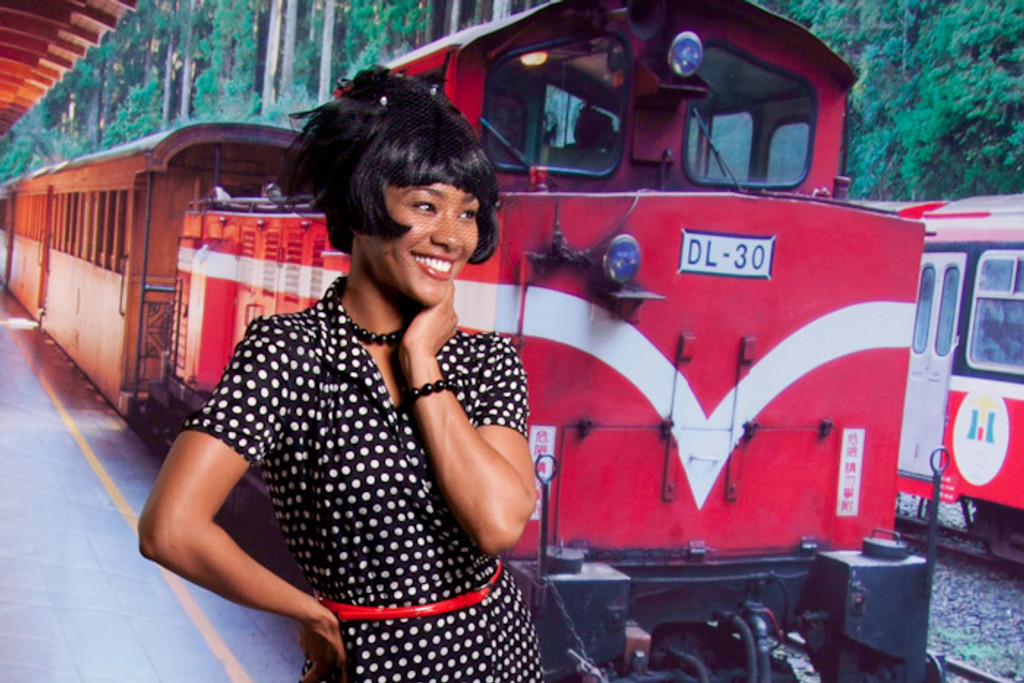 Red Train Backdrop