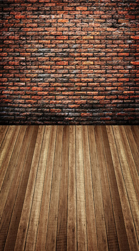 Parti-colored Brick Room Backdrop