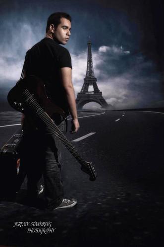 Cloudy Road to Paris Backdrop