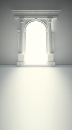 Pristine Doorway Backdrop