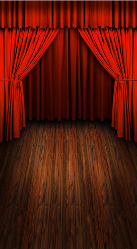 Red Curtains Backdrop