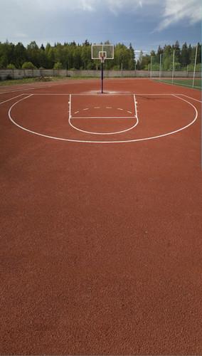Basketball Court Backdrop