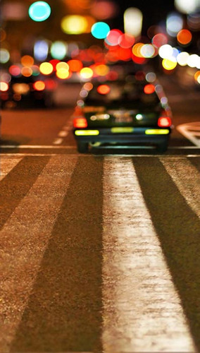 Bokeh City Crosswalk Backdrop