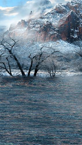 Mountain of Ice Backdrop