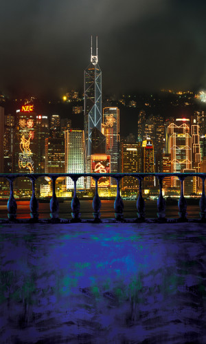 Hong Kong Nights Photography Backdrops