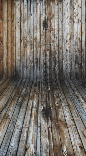 Mirrored Plank Room Backdrop