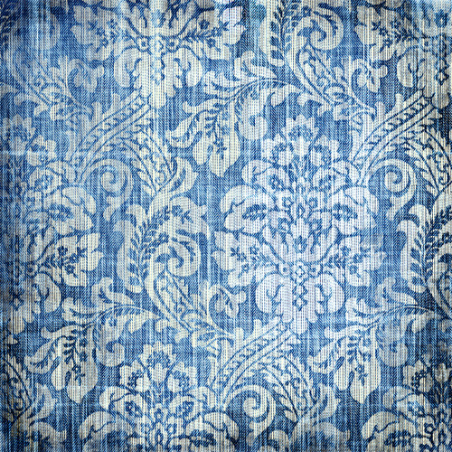 Denim Damask Floor