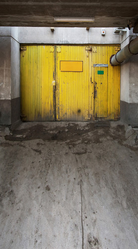 Yellow Grunge Door Backdrop