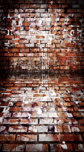 Paint Splattered Brick Backdrop