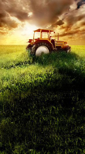 Tractor Sunset Backdrop