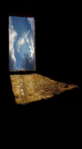 Sky Doorway Backdrop