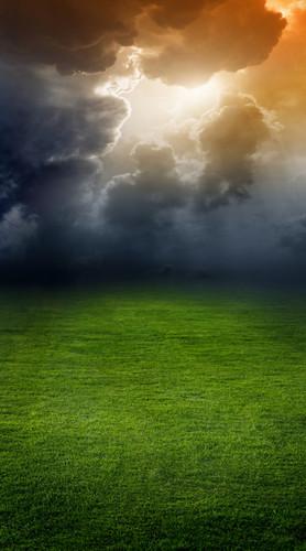 Cloudy Field Backdrop