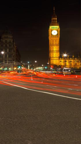 Big Ben At Night Backdrop
