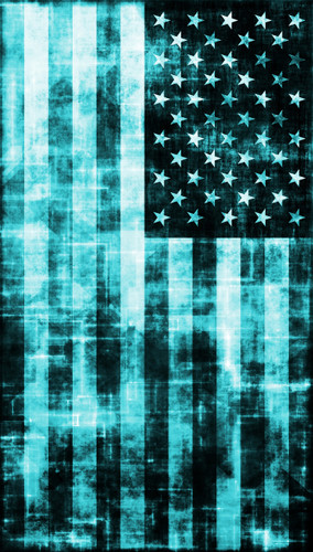 Blue American Grunge