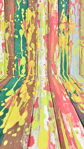Splatter-Painted Plank Backdrop