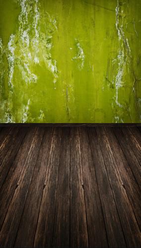 Green Grunge Room Backdrop