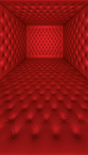 Red Tufted Room Backdrop