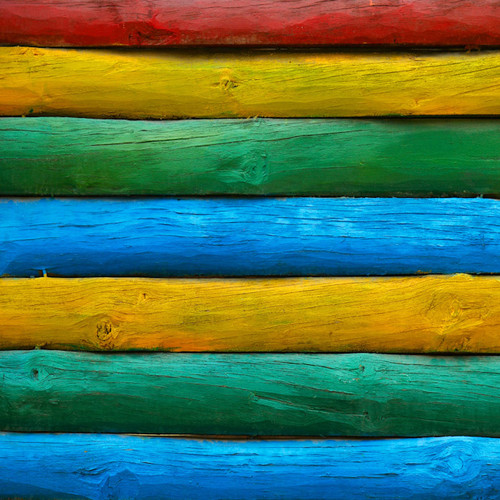 Rainbow Log Cabin Floor