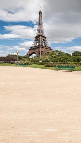 Eiffel Tower Sidewalk Backdrop