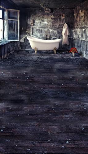 Delapidated Bath Backdrop