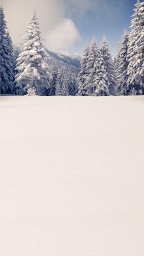 Snowy Mountain Top Backdrop