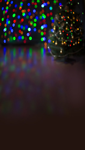 Bokeh Christmas Lights Backdrop