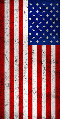 Distressed American Flag Backdrop