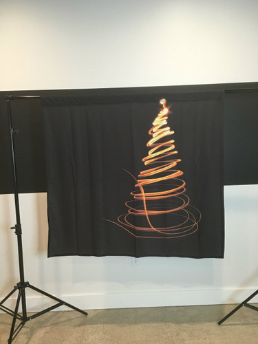 Single Swirl Tree - Gold 4x4 JerseyCloth Backdrop