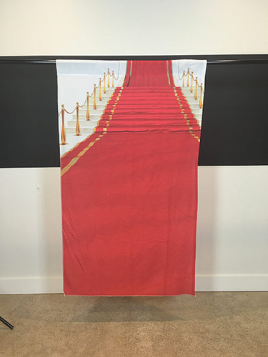 "Red Carpet Stairway 39""x65"" JerseyCloth Backdrop"