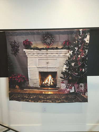 Christmas Mantle 4x4 PrismaCloth Backdrop