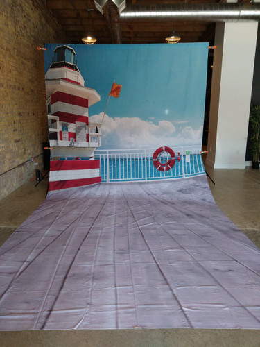 Dock on the Bay 9x20 JerseyCloth Backdrop