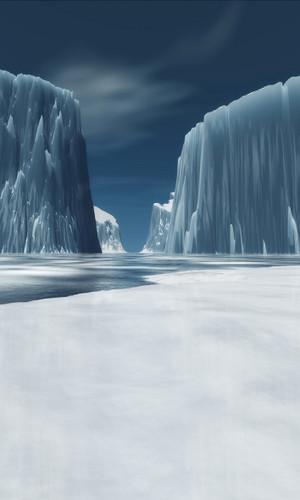 Ice Cliffs Backdrop