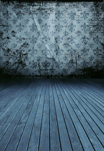 Fleur de Lis (Blue) Backdrop