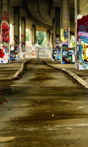 Graffiti Bridge Photography Backdrops