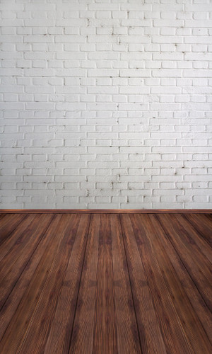 White Painted Brick Backdrop